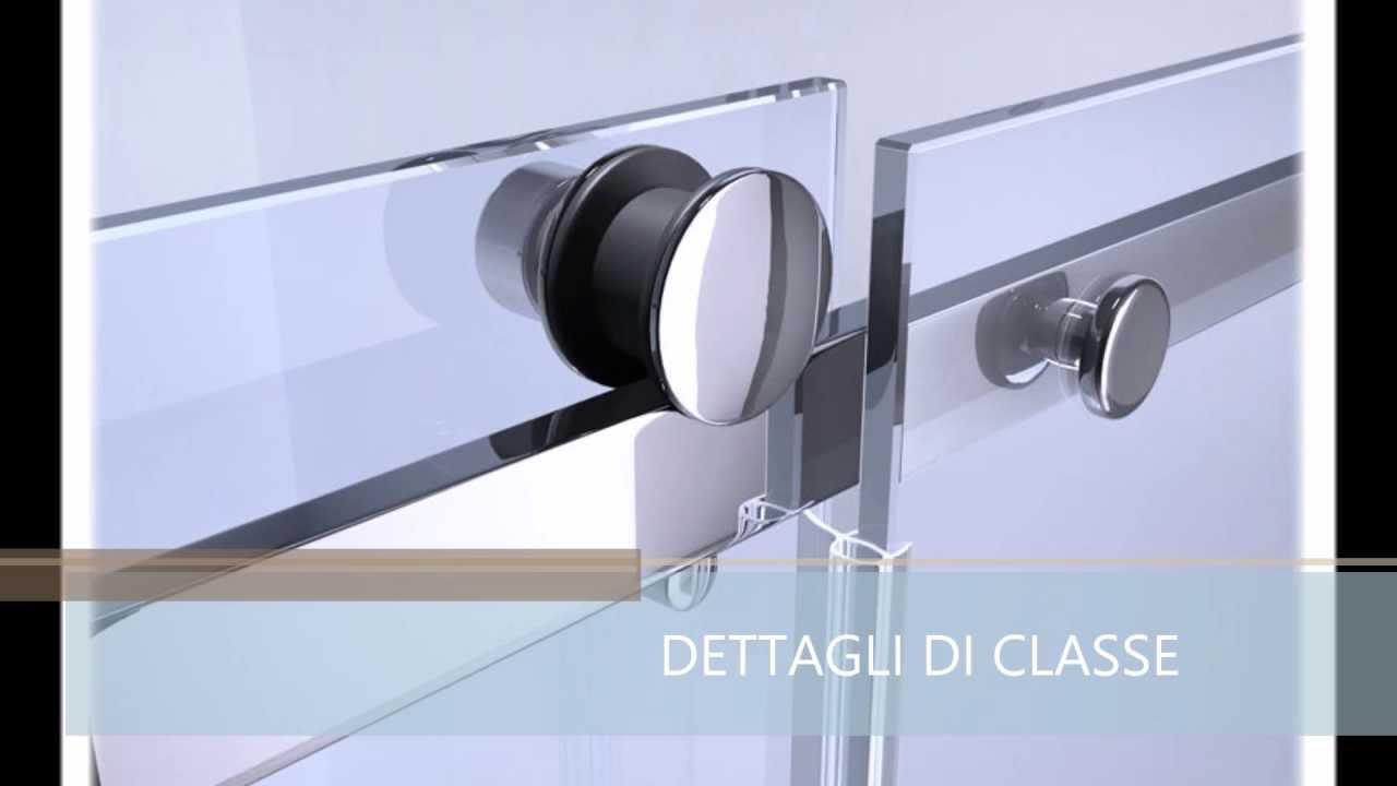 Box doccia euclide 8mm frameless senza profili youtube - Box doccia senza telaio ...