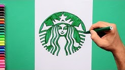 How to draw Starbucks Coffee logo