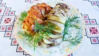 Запеченный картофель в духовке Картошка с мясом в фольге Печена картопля в духовці Страви з картоплі