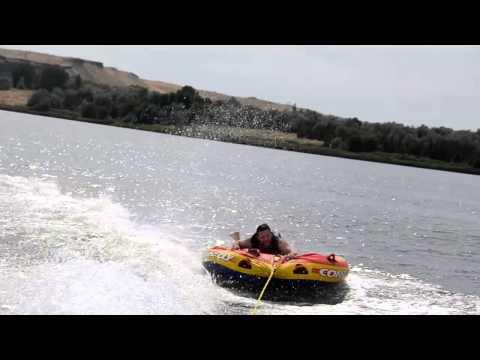 Jared tubes on the Snake River