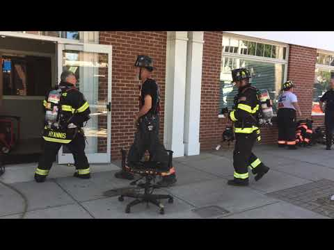 Chair fire at Cape Cod Times/Barnstable Patriot