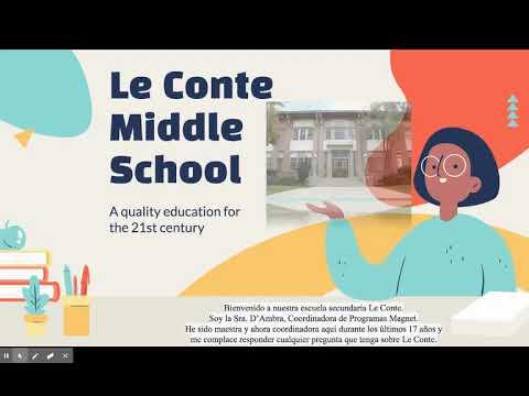Joseph Le Conte Middle School Programs