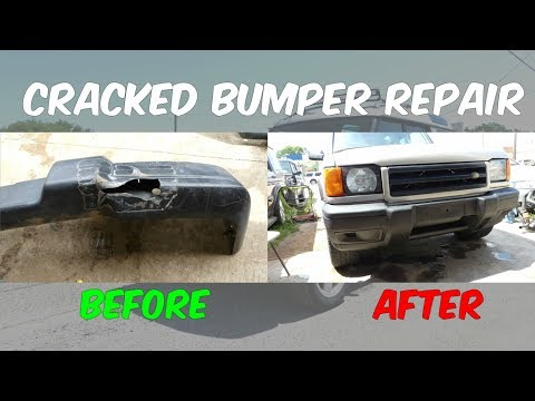 HOW TO FIX CRACKED BUMPER | DESTROYED BUMPER REPAIR
