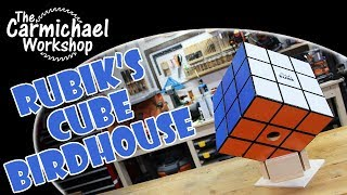 Making a Rubik's Cube Birdhouse - Outdoor Woodworking Project
