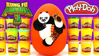 Kung Fu Panda 3 Giant Play Doh Surprise Egg with Batman Minecraft Disney Yo Kai Watch The Toy Bunker