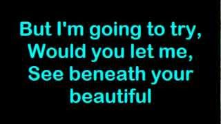 Labrinth feat Emeli Sande - Beneath Your Beautiful (Karaoke) Lyrics On Screen