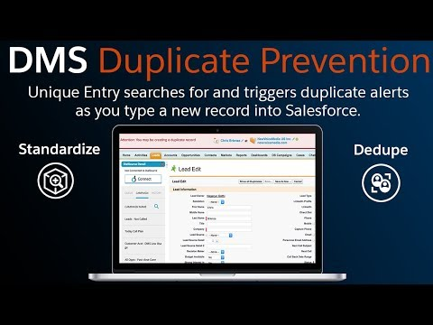 DMS Duplicate Prevention: Real-time duplicate prevention while entering records into Salesforce