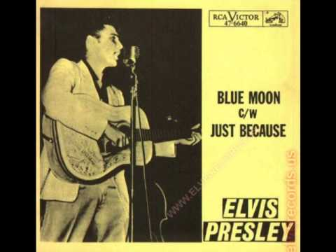 Elvis Presley - Blue Moon  (Rare 'Mono-to-Stereo' Mix  1955)