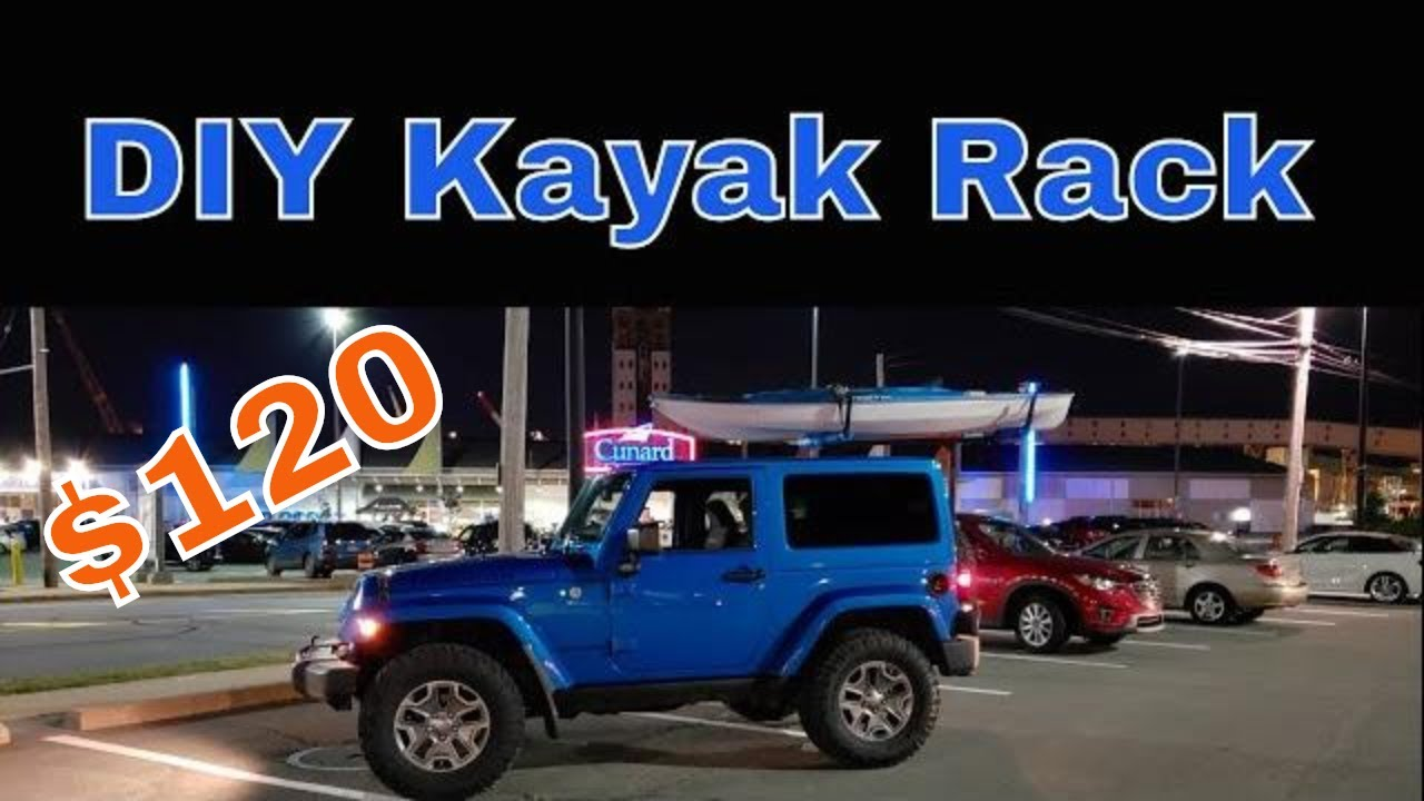 Diy Hitch Mounted Kayak Rack For A Jeep 120 Youtube