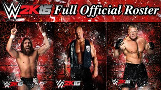 WWE 2K16 Largest Roster Ever! 120+ Superstars & Divas! (Complete List)