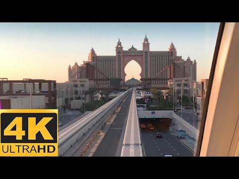 [4K 60fps]Dubai - Palm Jumeirah Monorail