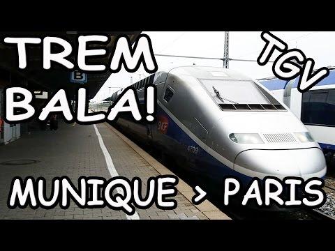 Viagem trem bala Munique Paris-TGV primeira classe