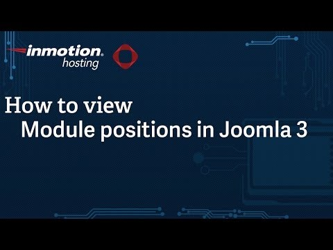 How To View Module Positions In Joomla 3