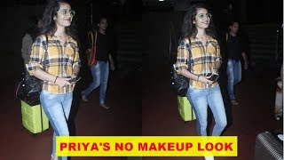 'Wink girl' Priya Prakash Varrier dons no makeup look as she gets clicked at airport
