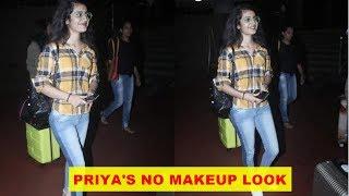 'Wink girl' Priya Prakash Varrier dons no makeup look as she gets clicked at airport
