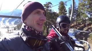 Первый раз на лыжах катаемся в Архызе Горнолыжный курорт Архыз 2019 2020