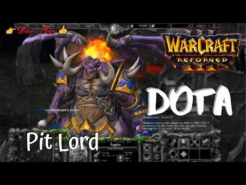 Warcraft 3 Reforged:  DOTA - Azgalor (the Pit Lord) Skills !!!