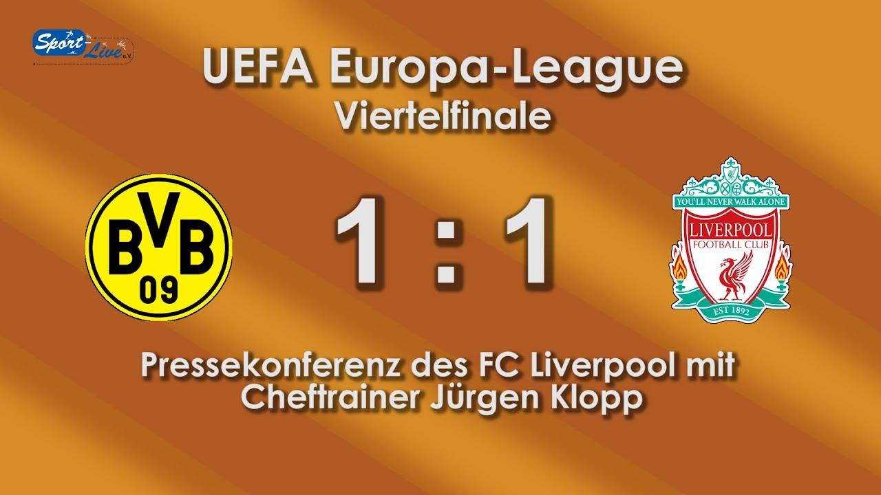 Borussia Dortmund - Liverpool F.C. 1:1  - Pressekonferenz mit Jürgen Klopp