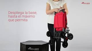 Carro Rolser I-Max MF 6 Ruedas Sube Escaleras Plegable video