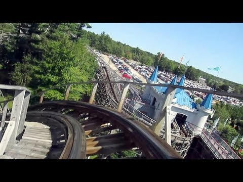 Excalibur front seat on-ride HD POV Funtown Splashtown U.S.A.