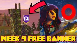 SEASON 6 WEEK 4 SECRET FREE TIER/BANNER LOCATION IN FORTNITE