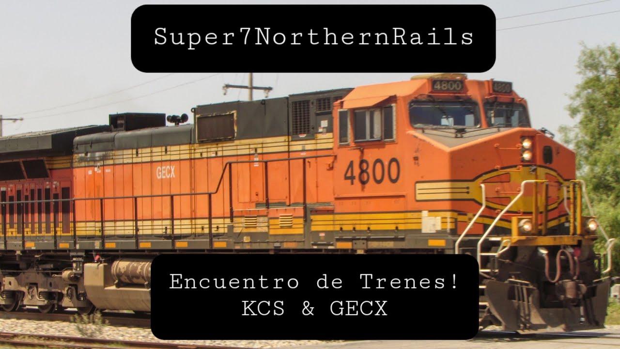 Download (4K) Encuentro de trenes! KCS / GECX   #4800 #4814