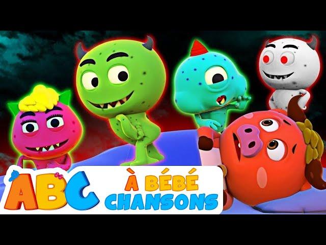 Cinq Monstres Drôle   Comptines Et Chansons   Chansons d'Halloween Pour Les Enfants
