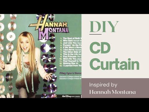DIY Hannah Montana Inspired CD Curtain   cuz i'm bored
