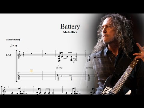 Guitar Lessons Metallica - Battery Tabs - Guitar Solo Cover - YouTube