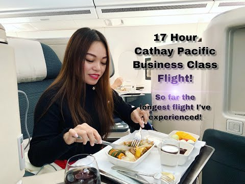 Flying From Manila To Toronto In Cathay Pacific Business Class | Travel Vlog