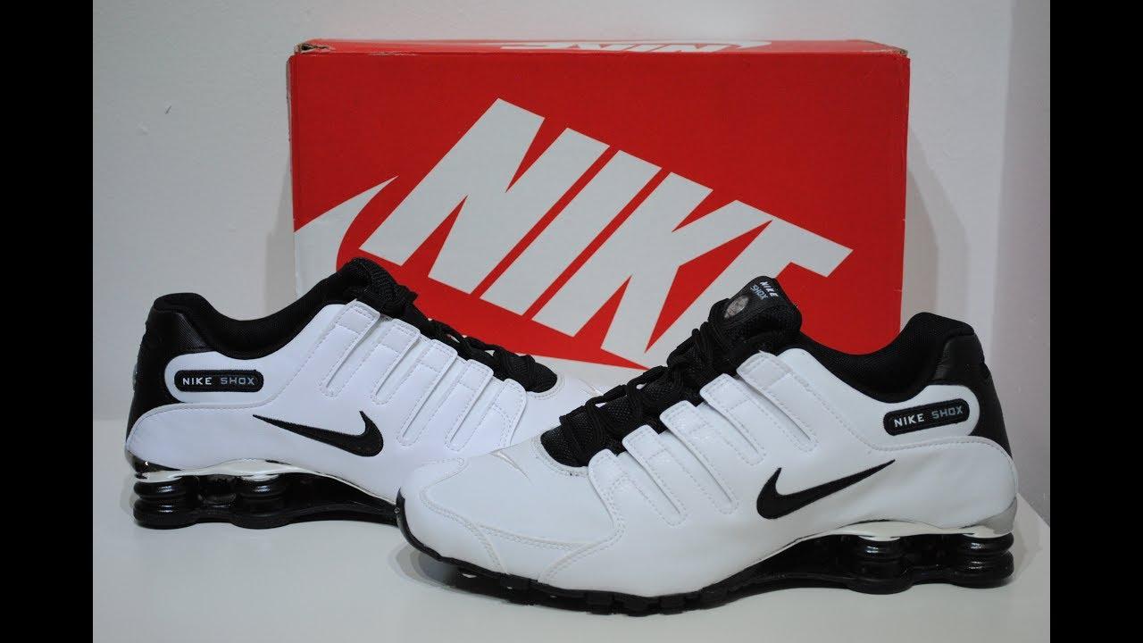 00ace9f1ec6 Nike Shox NZ Premium White Crime Clothing Product Presentation - YouTube