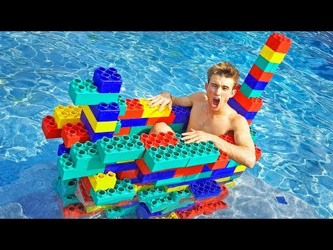 BUILT A LEGO BOAT! (Will it Float??)