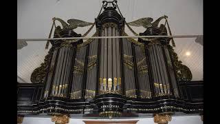 Wim Bomhof speelt op het Hardorff-kerkorgel van Nieuw-Beerta Psalm 92