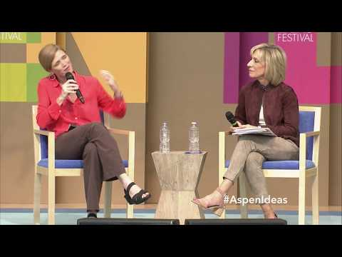 Samantha Power and Andrea Mitchell