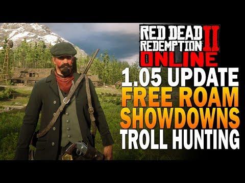 Update 1.05 Free Roam, Showdowns & Troll Hunting Red Dead Redemption 2 Online Beta [RDR2] thumbnail