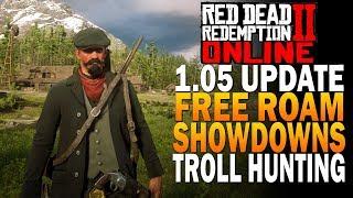 Update 1.05 Free Roam, Showdowns & Troll Hunting Red Dead Redemption 2 Online Beta [RDR2]
