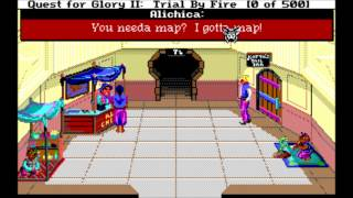 Quest for Glory II Trial by Fire (MS-DOS) Intro und Gameplay