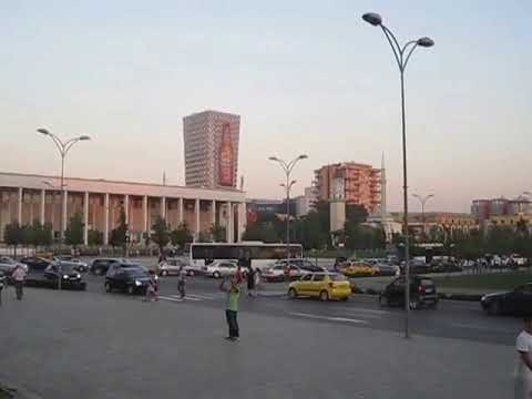 Albania - Tirana - Skanderbeg square from the National History Museum