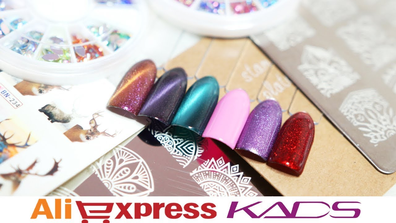 Aliexpress Haul KADS Paznokcie / Nails - swatche, opinia, testuję nowości * Candymona