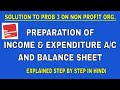 SOLUTION OF PROBLEM 3 ON ACCOUNTING FOR NON PROFIT ORGANISATION