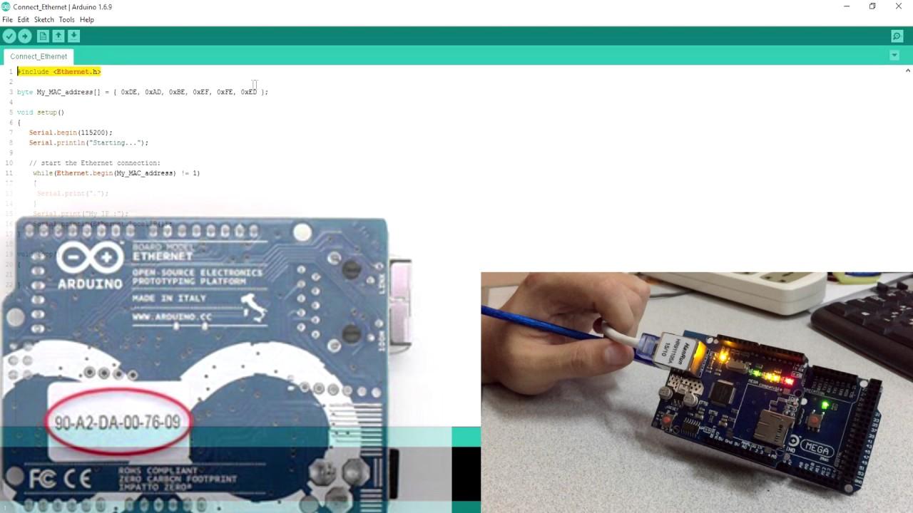 Arduino on NETPIE Lab 5 การเชื่อมต่อ Arduino กับเครือข่าย Internet ด้วย  Ethernet Shield