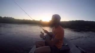 Вечірня рибалка з дружиною на Угрі 6 серпня