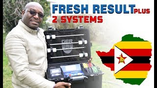 one of our customer from Zimbabwe make a field test on fresh result 2 systems device