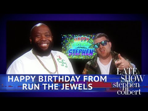 Run The Jewels Sing 'Happy Birthday' To Stephen