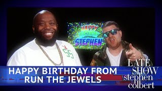 Run The Jewels Sing 'Happy Birthday' To Stephen