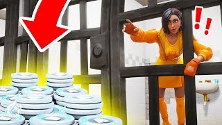 ESCAPE the PRISON = WIN 10,000 V-BUCKS?! (Fortnite Prison Escape Challenge)
