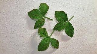 как сделать из гофрированной бумаги листья розы