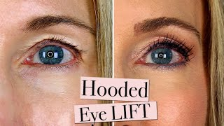 INSTANT EYE LIFT! Disguise Your Sagging Hooded Eye Lids with Makeup!