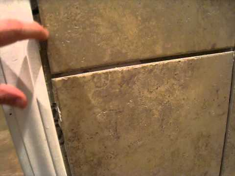 Bathroom Ceramic Tiling Project. Outside Corners - YouTube