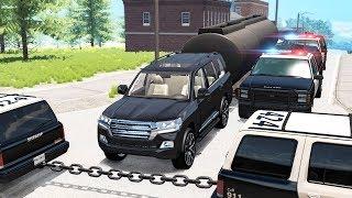 Beamng Drive - Police Chase Machine Gun vs Bandits #7